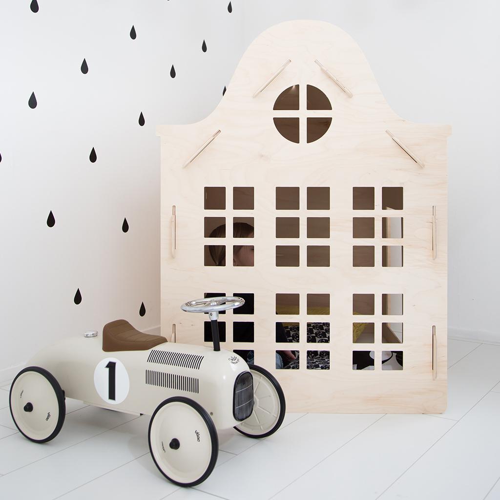 Speelhuisje Klokgevel, 120 cm hoog - WoodenPlay